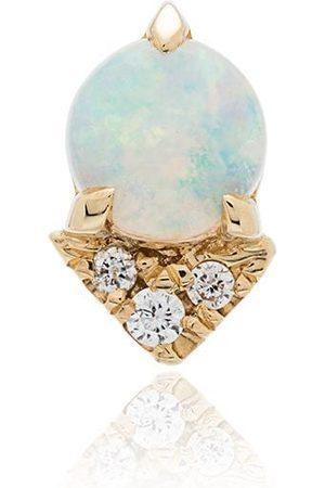 Lizzie Mandler Gelbgoldohrring mit Opal und Diamanten