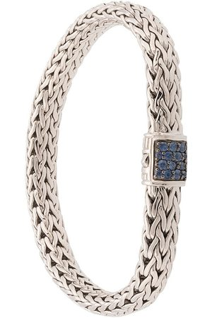 John Hardy Classic Chain' Sterlingsilber-Armband mit Saphir