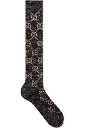Gucci Lurex-Socken mit Monogrammmuster