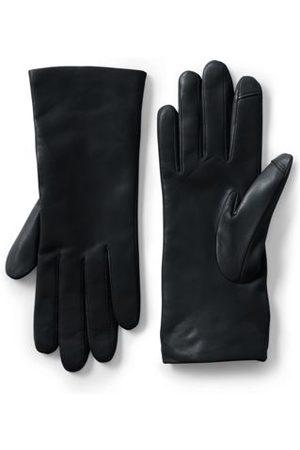 Lands' End Damen Handschuhe - Lederhandschuhe mit Kaschmirfutter