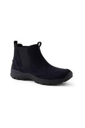 Lands' End Herren Chelsea Boots - Allwetter Chelsea Boots aus Veloursleder