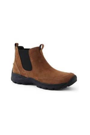 Lands' End Allwetter Chelsea Boots aus Veloursleder