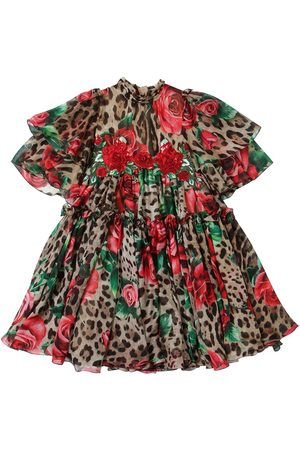 Dolce & Gabbana Kleid Aus Seidenchiffon Mit Druck