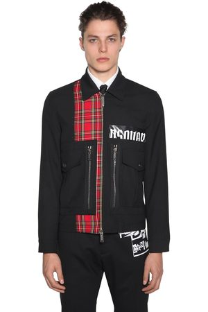 Dsquared2 Jacket Aus Wollmischung Mit Zip