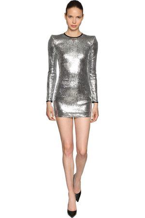 Dsquared2 Langärmeliges Kleid Mit Pailletten