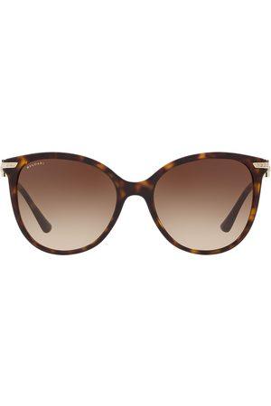 Bvlgari Runde Sonnenbrille in Schildpattoptik