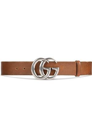 Gucci Ledergürtel mit GG Schnalle