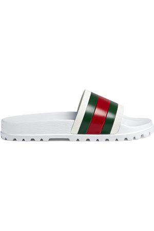 Gucci Pantolette mit Webdetail