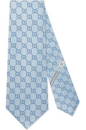 Gucci Krawatte mit GG Muster aus Seide