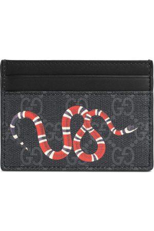 Gucci Kartenetui aus GG Supreme mit Kingsnake-Print