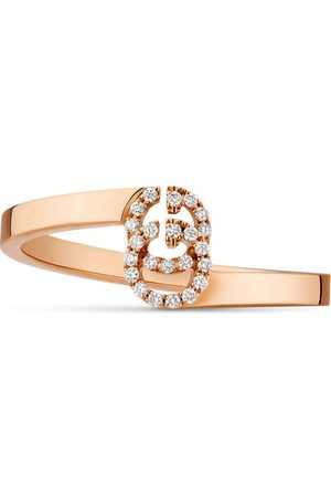 Gucci GG Ring aus Roségold mit Diamanten