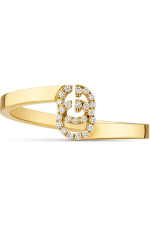 Gucci GG Ring aus Gelbgold mit Diamanten