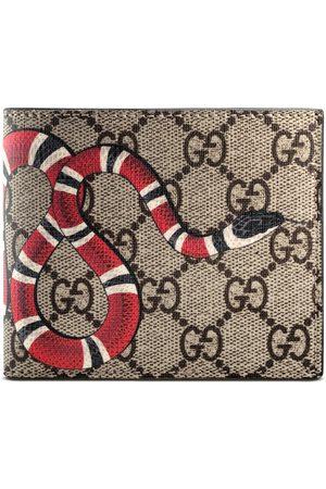 Gucci Brieftasche aus GG Supreme mit Königsnatterprint