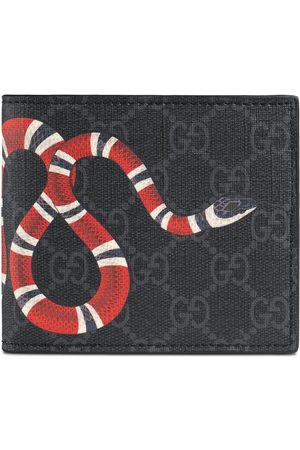 Gucci Herren Slips - Brieftasche für Münzen aus GG Supreme mit Kingsnake-Print