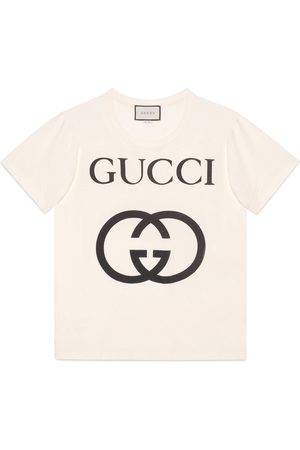 Gucci Übergroßer T-Shirt mit GG