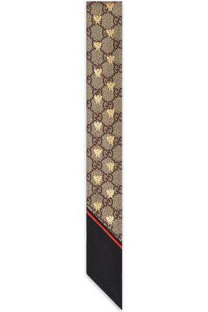Gucci Halsschleife aus Seide mit GG Bienen-Print