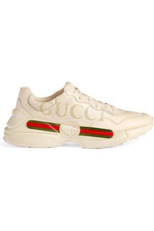 Gucci Sneaker aus Leder Rhyton mit Logo