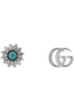 Gucci Doppel G und Blumen-Ohrstecker