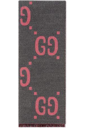 Gucci Schal aus GG Jacquard aus Wolle und Seide