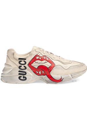 Gucci Rhyton Sneaker mit Mund-Print