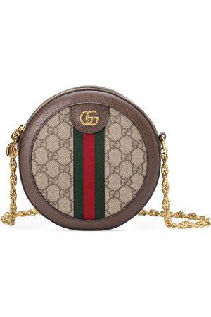 Gucci Runde Ophidia Mini-Schultertasche mit GG