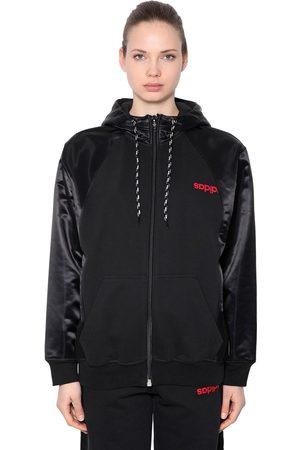 adidas Damen Sweatshirts - Hoodie Aus Fleece Mit Zip