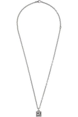 Gucci Square G Kreuz-Halskette aus Silber