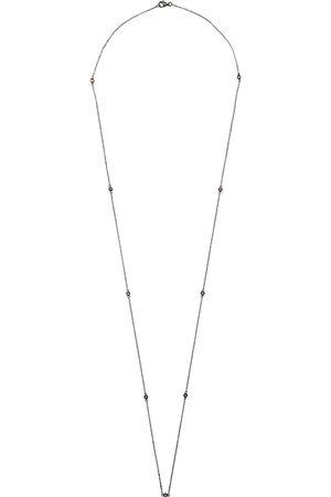 LOQUET 14kt Schwarzgold-Halskette mit Saphir