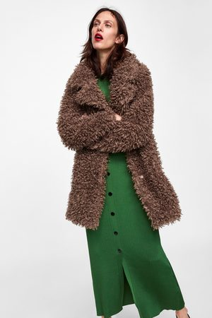 Zara SOFT FAUX FUR COAT