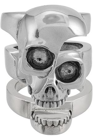 Alexander McQueen Ring mit Totenkopf