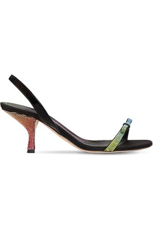 MARCO DE VINCENZO 70mm Satin & Patent Leather Sandals
