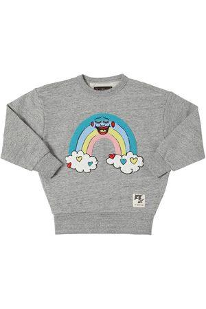 Finger in the Nose Sweatshirt Aus Baumwolle Mit Regenbogenpatch
