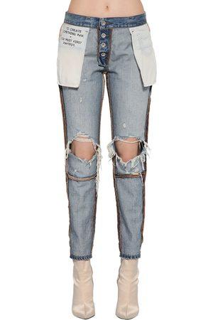UNRAVEL Inside Out Reversible Cotton Denim Jeans