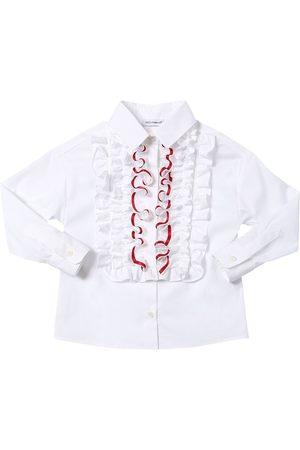 Dolce & Gabbana Hemd Aus Stretch-baumwollmischpopeline