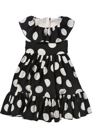 Dolce & Gabbana Kleid Aus Seidenmischung Mit Punktdruck