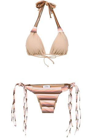 AMIR SLAMA Bikini mit Streifen