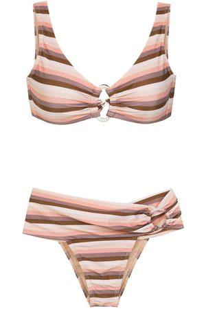 AMIR SLAMA Gestreifter Bikini