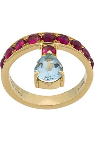 Dubini 18kt 'Theodora' Gelbgoldring mit Aquamarin