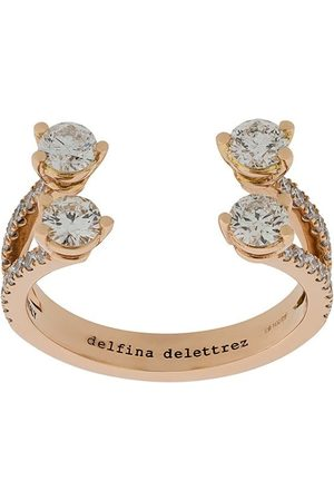 DELFINA DELETTREZ 18kt 'Dots Diamond' Rotgoldring