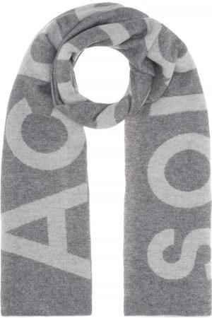 Acne Schal Toronty Logo aus einem Wollgemisch