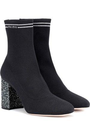 Miu Miu Ankle Boots mit Metallic-Fäden