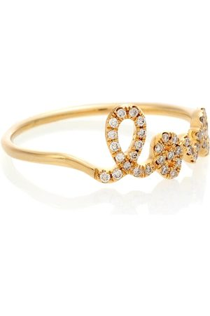 Sydney Evan Ring Love aus 14kt Gelbgold mit Diamanten