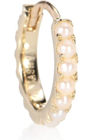 Maria Tash Ohrring Natural Akoya Pearl Cabochon Eternity Ring aus 14kt mit Perlen