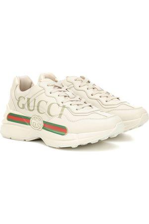 Gucci Damen Sneakers - Sneakers Rhyton aus Leder