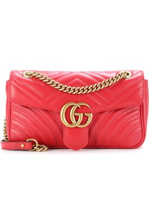 Gucci Damen Handtaschen - Schultertasche GG Marmont aus gestepptem Leder