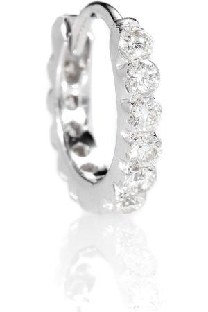 Maria Tash Ohrring Diamond Invisible Eternity Ring aus 18kt Weißgold mit Diamanten