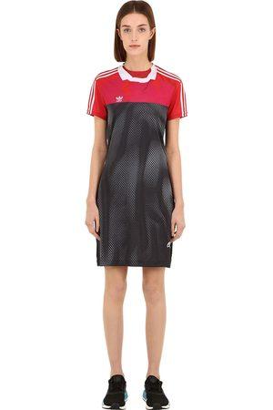 adidas Damen Freizeitkleider - Minikleid Aus Techno Mit Druck