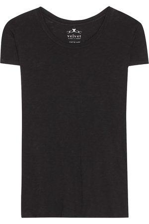 Velvet T-Shirt Odelia aus Baumwoll-Jersey