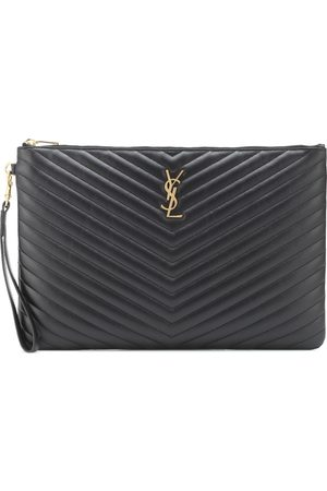 Saint Laurent Clutch Monogram aus Leder