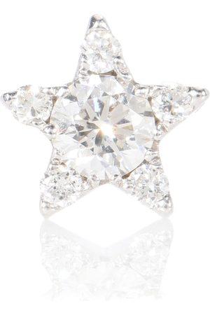 Maria Tash Einzelner Ohrring Diamond Star aus 18kt Weißgold mit Diamanten